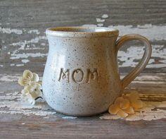 "Pottery ""MOM"" Heart Mug"