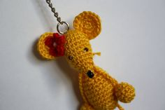 Crochet Mouse Keyring by MoniqueBoutiqueMB on Etsy
