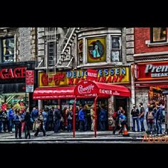 Carnagie Deli. I ate here with my family when u visited New York... it was amazing, I still buy their pickles in bulk!!