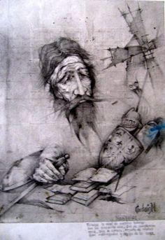 Imagen relacionada Dom Quixote, Chivalry, Gravure, Golden Age, Statue, Books, Painting, Righteousness, Fantasy Art