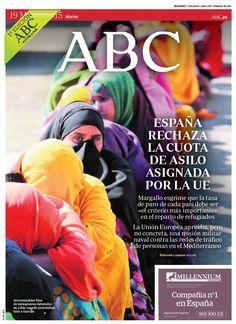 La portada de ABC del martes 19 de mayo