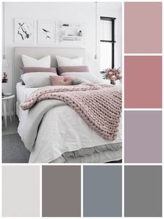 Awesome Small Bedroom Inspirations Color Schemes ☞❤ Top Small Bedroom Inspirations Color Schemes - Whether you introduce those pops of color with paint, bedding, or artwork, you'll find something to emulate in the gorgeous examples of colorful bedrooms Small Bedroom Colours, Bedroom Colour Palette, Bedroom Color Schemes, Apartment Color Schemes, Pastel Colour Palette, Interior Color Schemes, Colour Palettes, Pastel Colors, Small Bedroom Inspiration