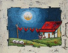 Annette Dannhauser - Housework x Art Gallery, Pastel, Wall Hangings, Sd, Artist, Cute, Landscapes, Boards, Paintings