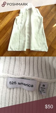 525 America sweater vest Perfect condition 525 America sweater vest in white!!! Amazing deal on this one =) 525 America Jackets & Coats Vests