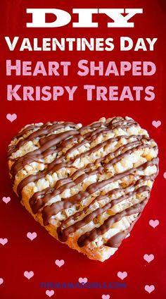 Heart Shaped Krispy Treats for Valentines Day - so cute!