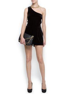 Velvet short jumpsuit