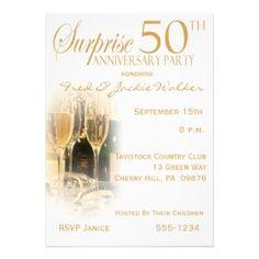 50 anniversary invitations | Surprise 50th Anniversary Party Invitations >> Wedding Invitations