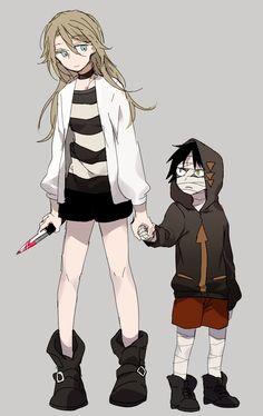 Zack & Rachel - Satsuriku no Tenshi 'Angels of Death' Anime Angel, Angel Of Death, Mad Father, Satsuriku No Tenshi, Chica Anime Manga, Rpg Horror Games, Anime Films, Anime Couples, Fanart