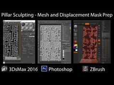 3DsMax Mesh Setup for Sculpting & Displacement Mask Creation in Photoshop. - YouTube
