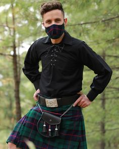 Moody Monday!🤪 Armstrong Tartan Kilt🦾 Armstrong never recovered and the clan scattered. The Armstrong Tartan is predominantly green and navy with a thick red stripe and thinner black stripes. #scottishkilt #armstrong #armstrongtartankilt #kiltmaker #kilts #meninkilts #tartan #scottishfashion #madeinscotland #luxuryscotland #scotland #kiltsformen #tartankilt #sporranmaker #sporrans #lovescotland #kiltmaking #pinterest #pinterestpin #pinterestinspired