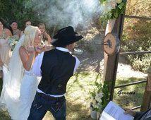 Wedding BRANDING Iron w/ Oak wood round