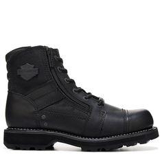 dfbc783fd77 Harley Davidson Men s Bonham Lace Up Boots (Black Leather) Black Leather  Boots