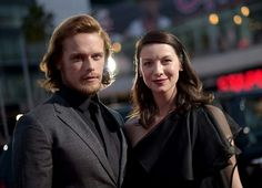 ABSOLUTELY LOVE this pic of Sam and Cait at the 2015 People's Choice Awards..... Outlander Won!!