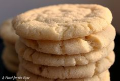 Chewy Sugar Cookies. Wow, are these good and easy to make.