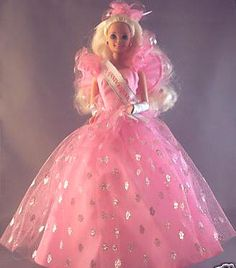 Wal-Mart 30th anniversary Barbie doll - don't remember if I had this or a friend did, but I remember that pink and silver dress