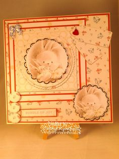 Bebunni Baby CD  from Crafter's Companion- card companion design with coordinating papers from CD.