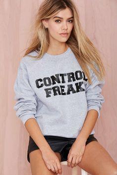 Danielle Guizio Control Freak Sweatshirt | Shop What's New at Nasty Gal