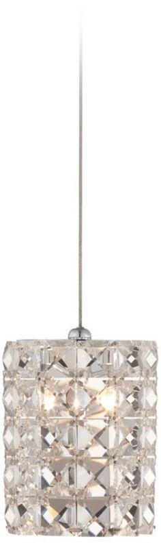 Pantheon Chrome with Crystal Possini Euro Mini Pendant - #EUX9689 - Euro Style Lighting $159