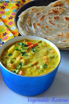 Find out about indian recipes korma. Veg Kurma Recipe, Vegetable Korma Recipe, Veg Dinner Recipes, Indian Veg Recipes, Easy Cooking, Cooking Recipes, Tiffin Recipe, Veg Curry