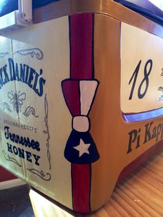 Painted Fraternity Cooler for Pi Kappa Alpha