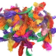 100 шт., декоративные цветные перья, 5-8 см