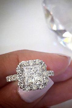 princess cut halo engagement rings 4