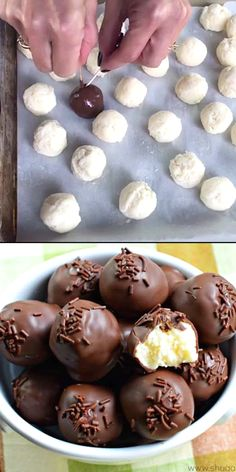 Truffles came out of the need to use up extra frosting. Now they are the perfect treat to make anytime!Buttercream Truffles came out of the need to use up extra frosting. Now they are the perfect treat to make anytime! Christmas Desserts, Christmas Baking, Christmas Cheesecake, Easter Desserts, Christmas Chocolate, Christmas Candy, Christmas Cookies, Christmas Ideas, Oreo