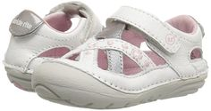 Soft Motion shoes by Stride Rite are made for your littlest love and their even littler toes. The Kiki shoe has comfortable premium memory foam insoles that add cushion and deep flex grooves to move with baby's feet. Plus, they're stylish enough t. Toddler Girl Shoes, Baby Girl Shoes, Toddler Girls, Baby Girls, White Shoes For Girls, Girls Shoes, Walker Shoes, Expensive Shoes, First Walkers