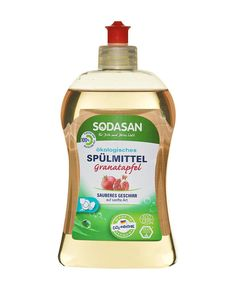 sodasan-oko-folyekony-mosogatoszer-granatalma Neutral, Cleaning Supplies, Soap, Dishes, Bottle, Pomegranate, Cleanser, Flask, Utensils