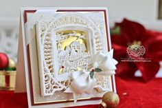 Today is the Day! Exciting New Club Program with Amazing Paper Grace and Spellbinders 3d Cards, Cute Cards, Christmas Cards, Hand Made Greeting Cards, Making Greeting Cards, Becca Feeken Cards, Spellbinders Cards, Embossed Cards, Card Making Inspiration