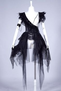 New Design Emo Visual Kei Kera Gothic Punk Rock Japan Fasion Sexy Skirt Dress Dress Outfits, Dress Up, Fashion Dresses, Visual Kei, Feather Dress, Lace Dress Black, Sexy Skirt, Gothic Outfits, Asymmetrical Dress