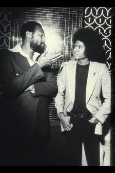 Young Micheal Jackson getting some lecture from Marvin Gaye