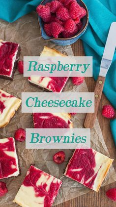 These ultimate dessert bars feature tangy raspberry-swirled cheesecake layered over a rich fudge brownie. Raspberry Swirl Cheesecake, Raspberry Desserts, Cheesecake Brownies, Fudge Brownies, Dessert Bars, Berries, Frozen, Breakfast, Recipes