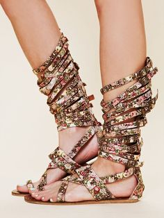 Yes please!!! Free People Romana Floral Sandal.