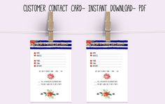 331c4f8b7abcb6 Customer Contact card Lips - direct sales - business - Customer information  card- Let's stay. Zibbet