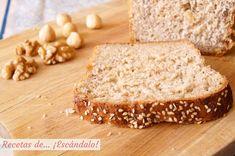 Como hacer la receta de pan de molde integral con semillas y frutos secos casero My Recipes, Bread Recipes, Homemade Hamburgers, Best Bread Recipe, Whole Grain Bread, Oven Racks, Desert Recipes, Banana Bread, Grains