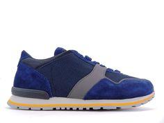 Sneakers Tod s - Todrun en nubuck, toile et cuir noir, marine et gris f19454b9152c