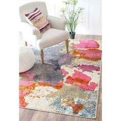 nuLOOM Abstract Vintage Fancy Multi Rug (5'3 x 7'7) | Overstock.com Shopping - The Best Deals on 5x8 - 6x9 Rugs #houseexteriorcolorsschemes