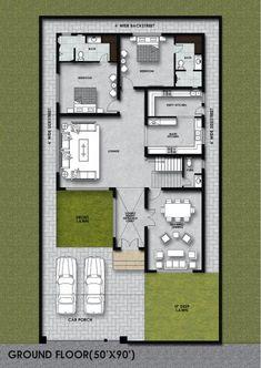 Home Design Plans, Building Plans, Ground Floor, Contemporary Style, House Plans, Cad File, Floor Plans, House Design, Flooring