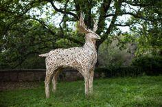 Sculpture at Villa Lena. Primal Art.