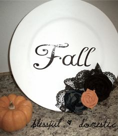 Cute! Fall colored plate ~ some leaves~