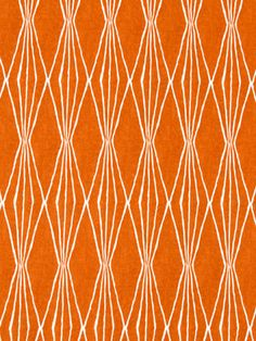 Tangerine Upholstery Fabric - Modern Orange Fabric by the Yard - White and Orange Fabric Yardage