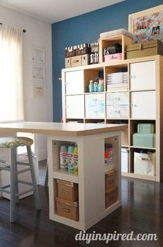 DIY Inspired Before and After Home Tour- Craft room makeover