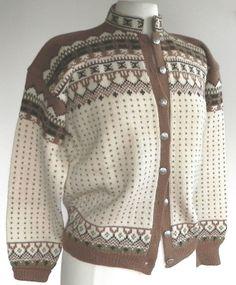 ukjent Norwegian Knitting, Fair Isles, Knit Fashion, Jumpers, Knit Cardigan, Boho Shorts, Knitwear, Clothing, Sweaters