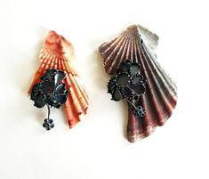 Eva Tesarik  Earrings: Mary 2012  Silver,shells ,old earrings  7 x 4 cm  serie Oceanis Nox