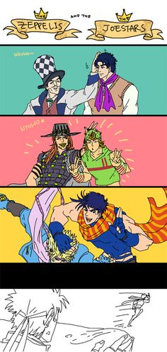 "bocchickenbocdoodles: "" The Zeppelis and the Joestars. Josef needs to learn to respect his elders… """