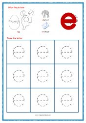 Alphabet Tracing - Small Letters - Alphabet Tracing Worksheets - Alphabet Tracing Sheets - Free Printables Tracing Letters (A-Z) - Lowercase Letter E Activities, Alphabet Tracing Worksheets, Handwriting Worksheets, Tracing Letters, Handwriting Practice, Preschool Phonics, Preschool Letters, Preschool Writing, Preschool Curriculum