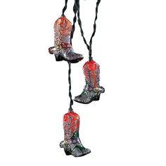 Kurt Adler 10-Light Boots with Glitter Indoor Light Set