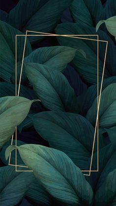Framed Wallpaper, Tumblr Wallpaper, Colorful Wallpaper, Flower Wallpaper, Nature Wallpaper, Wallpaper Backgrounds, Leaves Wallpaper, Plant Wallpaper, Tropical Wallpaper