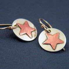 Little Stars Earrings  Sterling Silver and by NinaGibsonDesigns, $28.00